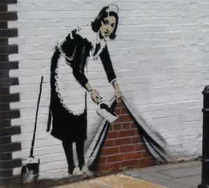 Readers photo of this piece of art by 'art terrorist' Banksy  at